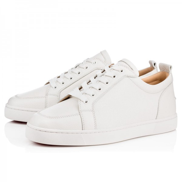 Red Bottoms Low Tops Latte Leather Shoes