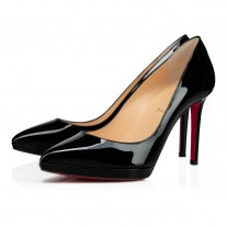 Christian Louboutin Pigalle Plato platforms Black Patent Leather Shoes