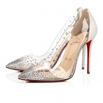 Christian Louboutin Degrastrass pumps Version White PVC Shoes