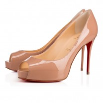 Christian Louboutin New Very Prive platforms Nude Patent Leather Shoes