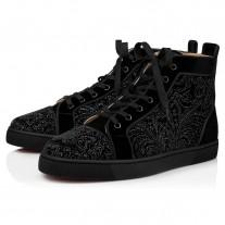 Christian Louboutin Louis Orlato High Tops BLACK VELVET Shoes