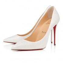Christian Louboutin Kate pumps White Glitter Mini Shoes