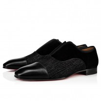 Christian Louboutin Alpha Male Loafers Black Crosta Shower Shoes