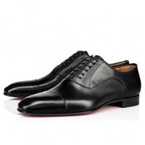 Christian Louboutin Greggo Oxfords Black Leather Shoes