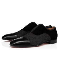 Christian Louboutin Alpha Male Loafers Black COTTON Shoes