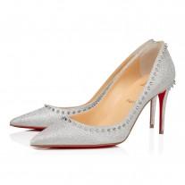 Christian Louboutin Anjalina Evening SILVER GLITTER Shoes