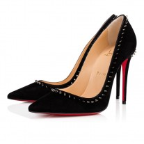 Christian Louboutin Anjalina Velours Black Suede Shoes