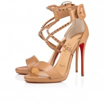 Christian Louboutin Choca Lux sandals Nude/Pink Bronze Leather Shoes