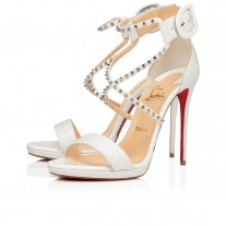 Christian Louboutin Choca Lux sandals White Glitter Shoes