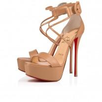Christian Louboutin Choca platforms Nude Leather Shoes