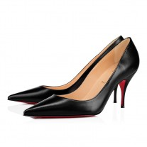 Christian Louboutin Clare red Bottoms Black Nappa Leather Shoes