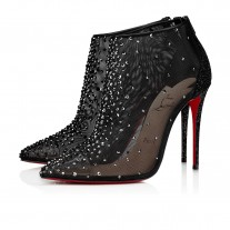 Christian Louboutin Constella Bootie Evening BLACK STRASS Shoes