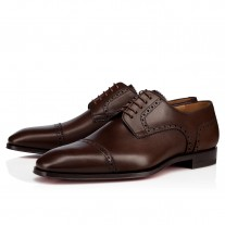 Christian Louboutin Cousin Charles Derby Havane Leather Shoes