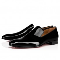 Christian Louboutin Dandelion Loafers Black Patent Leather Shoes