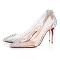 Christian Louboutin Degrastrass pumps Silver Paillete Shoes