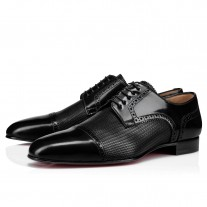 Christian Louboutin Eygeny Derby Black LEATHER Shoes