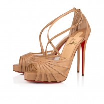 Christian Louboutin Filamenta platforms Version Nude Leather Shoes