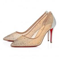 Christian Louboutin Follies Strass pumps Silver GLITTER Shoes