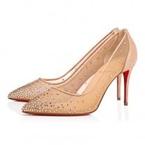Christian Louboutin Follies Strass pumps Version Light Silk Suede Shoes
