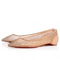 Christian Louboutin Follies Strass red Bottoms Version Light Silk Strass Shoe