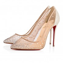 Christian Louboutin Follies Strass Evening Vers Crystal Moonlight Strass Shoes