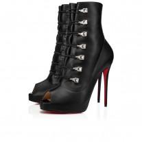 Christian Louboutin Frenchissima 2020 Alta platforms Black Leather Shoes