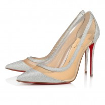 Christian Louboutin Galativi Evening SILVER GLITTER Shoes