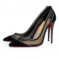 Christian Louboutin Galativi Strass Evening BLACK VEAU VELOURS Shoes
