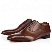 Christian Louboutin Greggo Oxfords Havane Leather Shoes