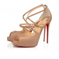 Christian Louboutin Holly Alta sandals NUDE LEATHER Shoes