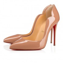Christian Louboutin Hot Chick pumps Nude Patent Leather Shoes