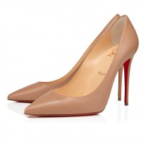 Christian Louboutin Kate pumps Nude Nappa Shiny Shoes