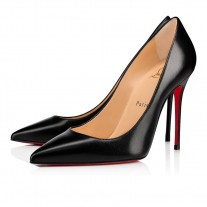 Christian Louboutin Kate pumps Black Leather Shoes