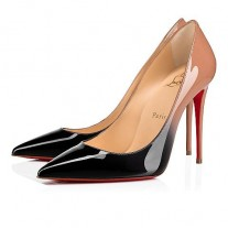 Christian Louboutin Kate pumps Black-Nude Patent Leather Shoes