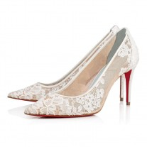 Christian Louboutin Lace 554 pumps Off White Dentelle Lace Shoes