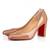 Christian Louboutin Lady Gena pumps Nude Patent Leather Shoes