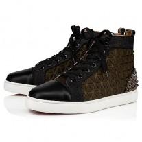 Christian Louboutin Lou Spikes III High Tops MULTI NEOPREN Shoes