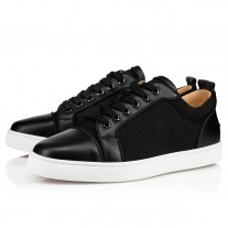 Christian Louboutin Louis Junior Orlato Low Tops Black Mesh Shoes