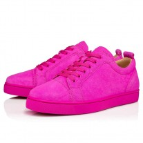 Christian Louboutin Louis Junior Runners Diva Suede Shoes