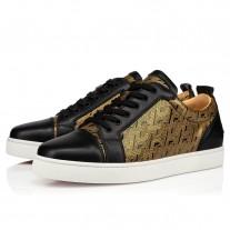 Christian Louboutin Louis Junior Low Tops Black Patent Cl Shoes