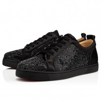 Christian Louboutin Louis Junior Strass Low Tops Black Strass Shoes