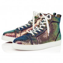Christian Louboutin Louis Orlato High Tops MULTI PAILLETTE Shoes