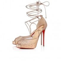 Christian Louboutin Maia Labella Alta platforms Version Courtisane Glitter Mini Shoes