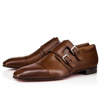 Christian Louboutin Mortimer Loafers Havane Leather Shoes