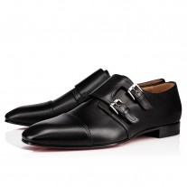 Christian Louboutin Mortimer Loafers Black Leather Shoes