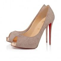 Christian Louboutin New Very Prive platforms Courtisane Glitter Mini Shoes