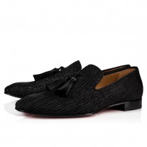 Christian Louboutin Officialito Loafers Black Crosta Shower Shoes