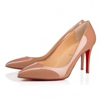 Christian Louboutin Pigalle pumps red Bottoms Nude Patent Leather Shoes