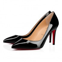 Christian Louboutin Pigalle pumps red Bottoms Black Patent Leather Shoes