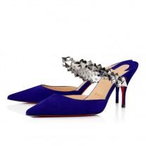 Christian Louboutin Planet Choc Mules ELIXIR VEAU VELOURS Shoes